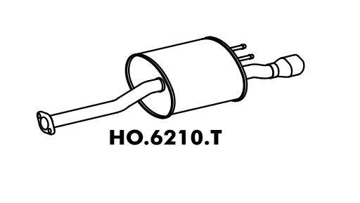 Silencioso Honda Civic 1.8 16V Lxs 05/2006 A 2012 Traseiro