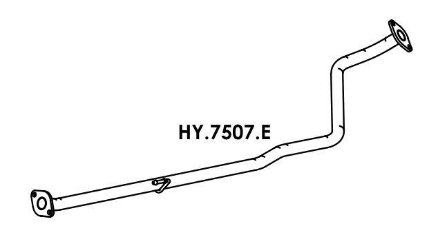 Tubo Escapamento Hb20 1.0 3 Cil. Hatch / Sedan 2012 A 2014