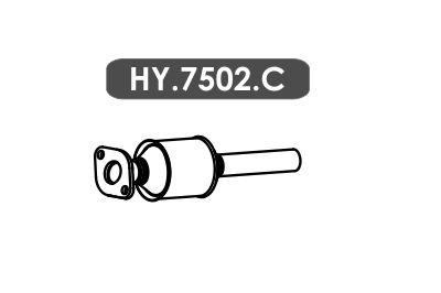 Catalisador Hb20 1.0 3 Cil. Hatch / Sedan 2015 Em Diante Secundario