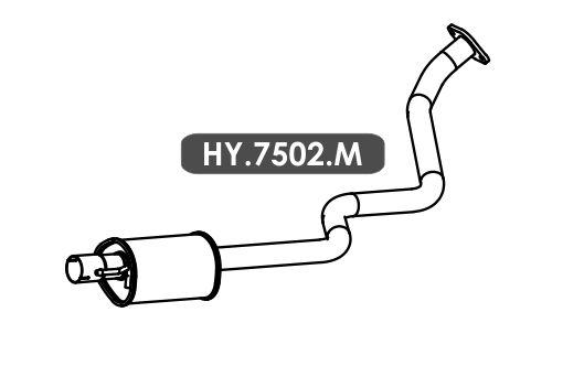 Silencioso Hb20 1.6 16V Hatch / Sedan 2015 Em Diante Intermediario