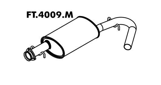 Silencioso Citroen Jumper 2.5 / 2.8 98 A 2008 Intermediario