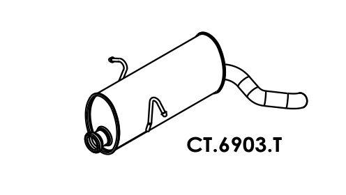 Silencioso Berlingo 1.8 8V Traseiro / Peugeot