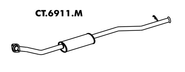Silencioso Citroen Xsara Picasso 1.6 16V 2005 A 2012 Intermediario