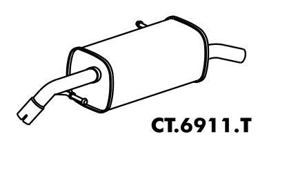 Silencioso C3 1.4 8V 2003 A 2011 Traseiro