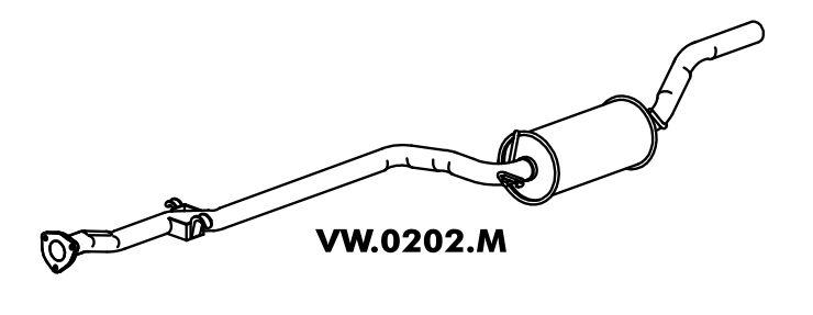Silencioso Scort Gl / Ghia / Xr3 / Verona 1.8 92 Intermediario