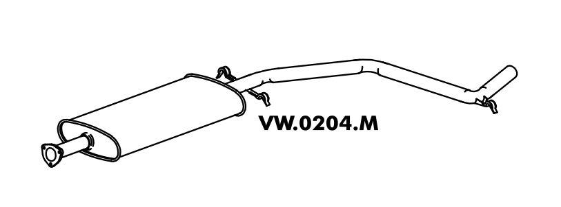 Silencioso Escort L / Gl / Ghia / Xr3 / Verona 1.6 / 1.8 / 2.0 07/94 Até 96