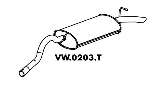 Silencioso Escort L / Gl / Ghia / Xr3 / Verona 1.6 / 1.8 / 2.0 07/94 Até 96 Traseiro