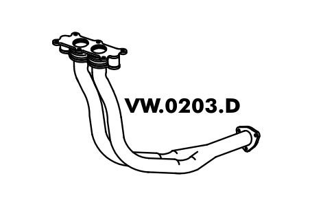 Tubo Saida Do Motor Escort L / Gl / Ghia / Xr3 / Verona 1.6 / 1.8 / 2.0 07/94 Até 96