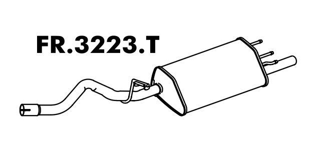 Silencioso Escort/ Sw 1.8 16V Zetec 97 A 2003 / 1.6 16V 2000 A 2003