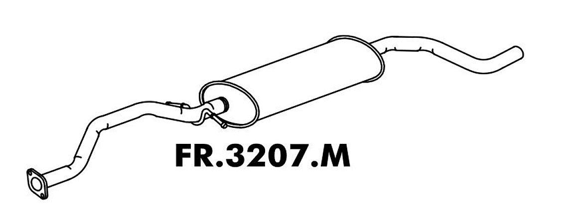 Silencioso Escort/ Sw 1.8 16V Zetec 97 A 2003 / 1.6 16V 2000 A 2003 Intermediario