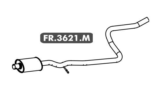Silencioso Fiesta 1.0 Aspirado Hatch / Sedan 2005 A 2008 Intermediario