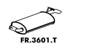 Silencioso Fiesta 1.3 95 Até 96 Importado Traseiro
