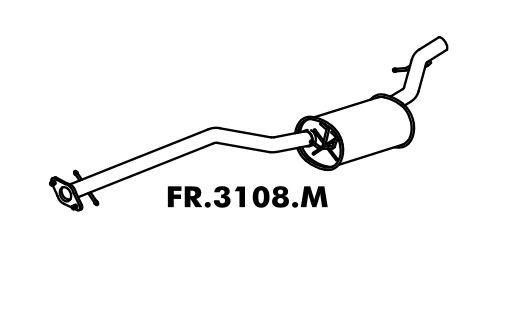 Silencioso Focus Hatch / Sedan 1.6 Rocam 2003 A 2009 Intermediario