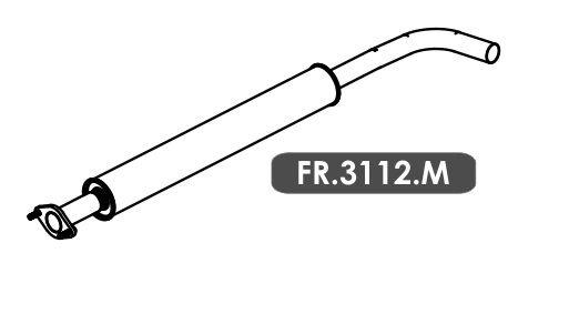 Silencioso Focus 1.6 16V / 2.0 16V Hatch / Sedan 2010 A 2013 Intermediario