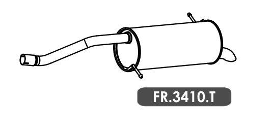 Silencioso Ka 1.0 3 Cil. Hatch / Sedan 2014 Em Diante Traseiro