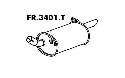 Silencioso Ka 1.0 / 1.3 97 Até 07/99 Motor Endura