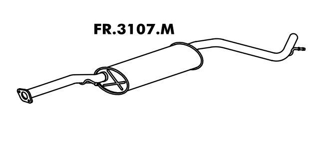 Silencioso Mondeo Sedan / Sw 1.8 94 A 96 Intermediario