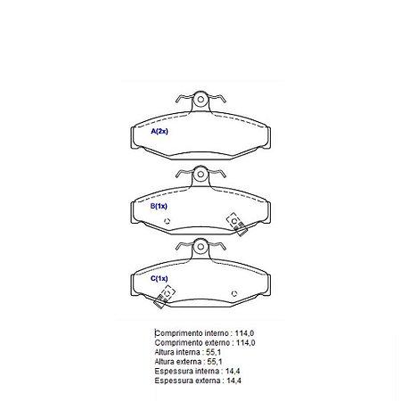 Pastilha De Freio Aplicação Completa Ssangyong Korando Suv Std 2.0 16V 204Dta Turbo L4 /2011 - 2016 Ssangyong Musso Suv Dx 2.9 8V1995 - 1997