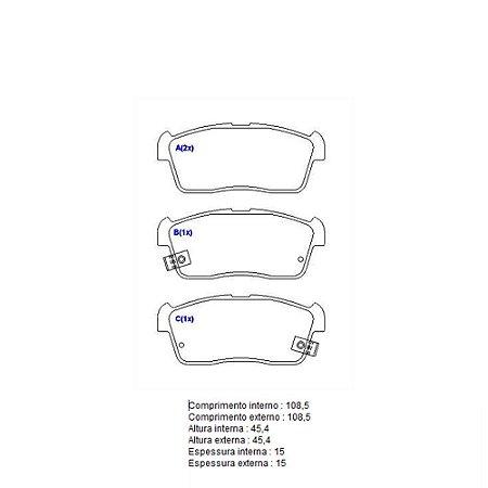 Pastilha De Freio Suzuki Ignis Hatch Std 1.3 16V L4 Gasolina2003 - 2003