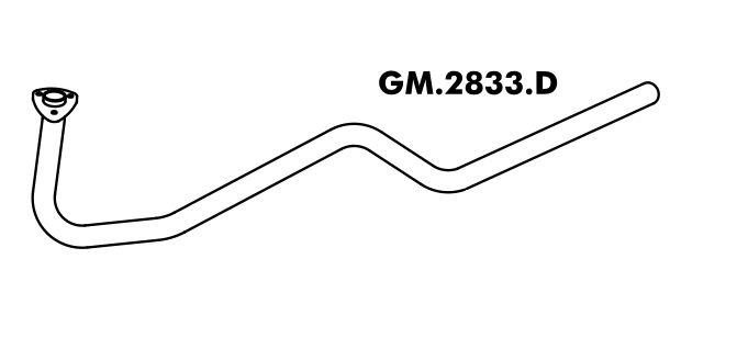 Tubo Escapamento A20 / C20 / D20 Bonanza Motor Aspirado 93 Em Diante