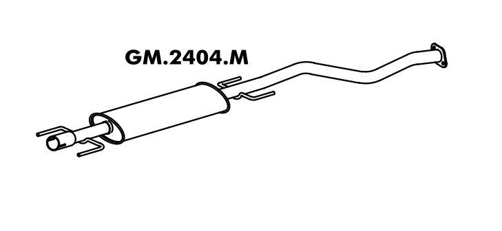 Silencioso Astra 2.0 16V 98 A 2006 Hatch / Sedan Intermediario
