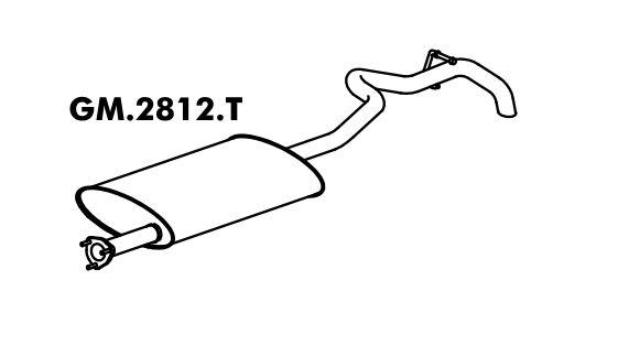 Silencioso Blazer 4.3 V6 96 A 11/99 Traseiro