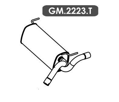 Silencioso Cruze 1.8 16V Hatch / Sedan Automático / Mecânico 2012 Em Diante Traseiro