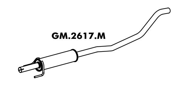 Silencioso Corsa 1.0 8V / 1.4 8V Hatch / Sedan Flex 09/2005 A 2012 Gii