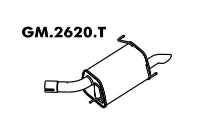 Silencioso Corsa 1.0 8V / 1.4 8V Hatch / Sedan Flex 09/2005 A 2012 Gii Traseiro