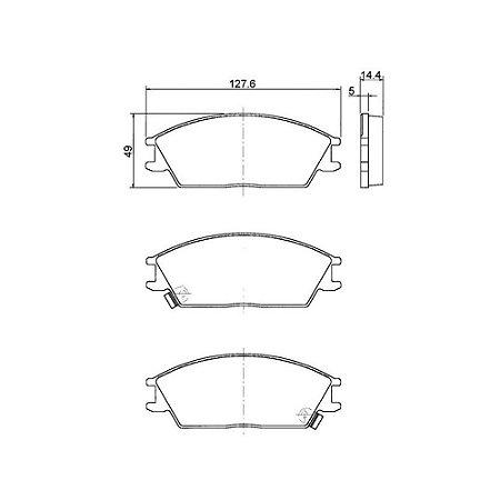 Pastilha De Freio  Hyundai Accent Hatch Gl 1.3 8V Gasolina1993 - 1999 Hyundai Accent Sedan Gls 1.5 16V 1995 - 2001 Hyundai Accent Hatch Gls 1.5 16V