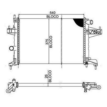 Radiador Corsa / Montana - Agua Aquecedor C/ Ar Ou S/ Ar