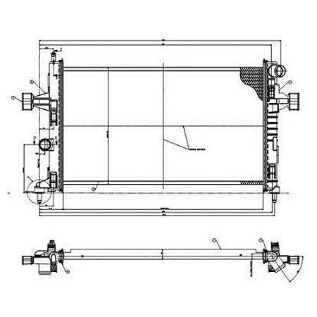 Radiador Astra / Vectra / Zafira - Agua C/ Ar
