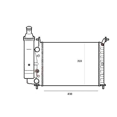 Radiador Palio - Agua - S/ Ar