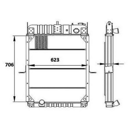 Radiador Agua Ford F12000 / F14000