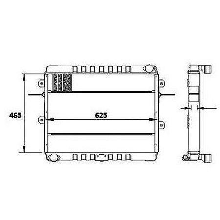 Radiador Agua  Volkswagen (Vw) 8120 Caminhao Std 4.3 8V Mwm 4.10 Na Diesel