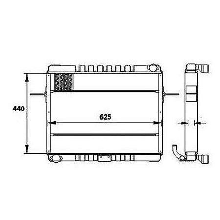 Radiador Agua  Volkswagen (Vw) 7100 Caminhao Std 4.3 8V Mwm 4.10 Na