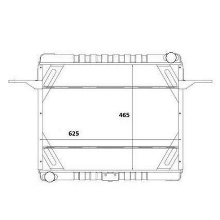 Radiador Agua  Volkswagen (Vw) 12140 Caminhao T 4.3 8V Mwm 4.10 Serie 10