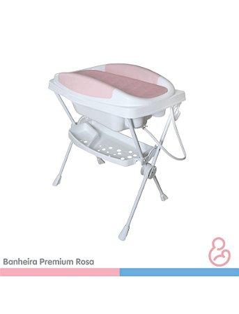 Banheira Bebê Plástica Premiun - Rosa - Galzerano