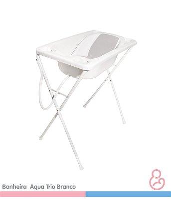 Banheira Bebê Plástica Acqua Trio - Branco - Galzerano