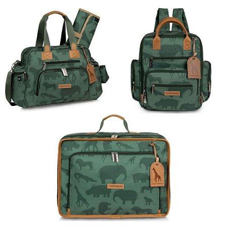 Kit Maternidade Safari - Verde - Masterbag