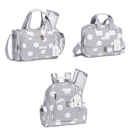 Kit Maternidade Bubbles - Cinza - Masterbag