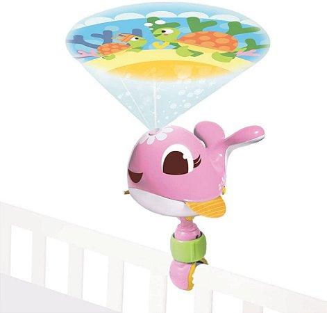 Projetor Portátil Suzi - Calmante para Bebês - Rosa - Tiny Love