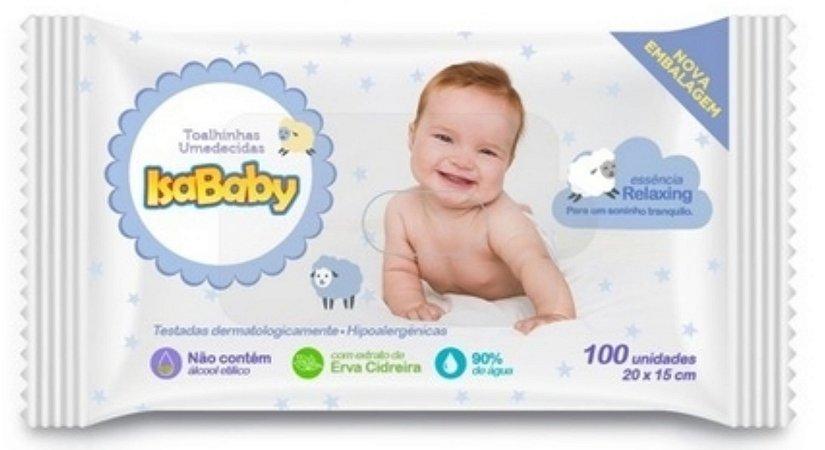 Toalhinhas Umedecidas - 100 toalinhas -  Isababy