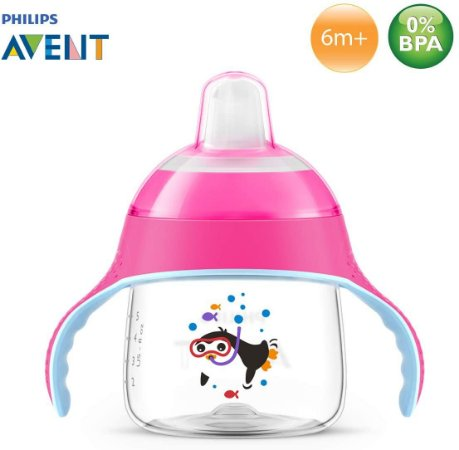 Copo Pinguim 200Ml - Rosa - Philips Avent