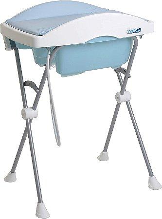 Banheira Rigida Tchibum Com Trocador - baby blue - Burigotto