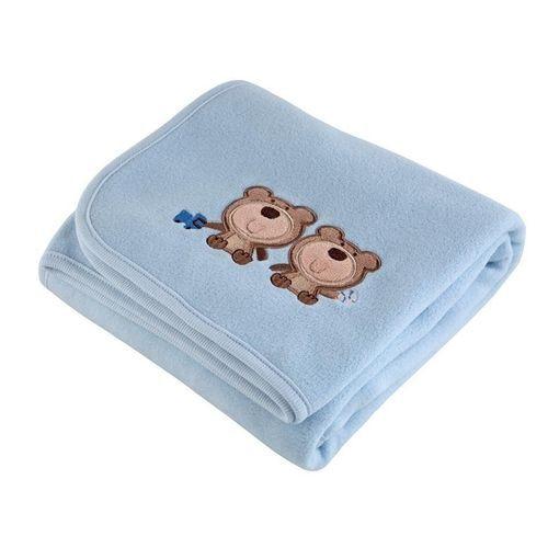 Manta Fleece - Coleção Mini - Azul - Lepper