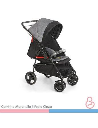 Carrinho Maranello II - Preto/Cinza - Galzerano