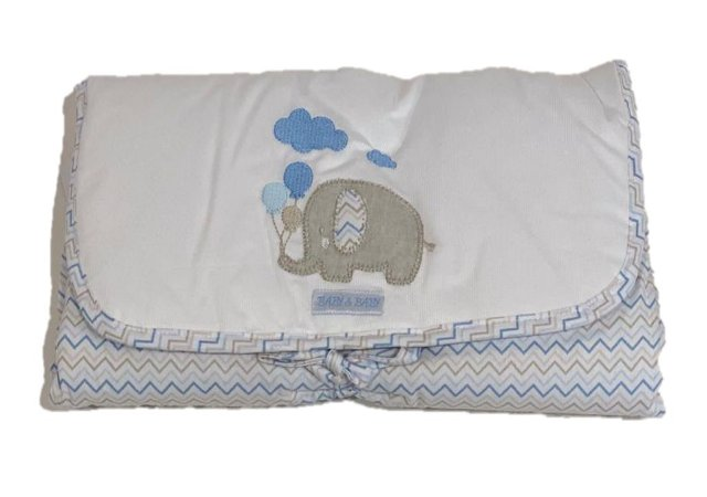 Trocador Portátil Bordado - Elefante - Baby Baby