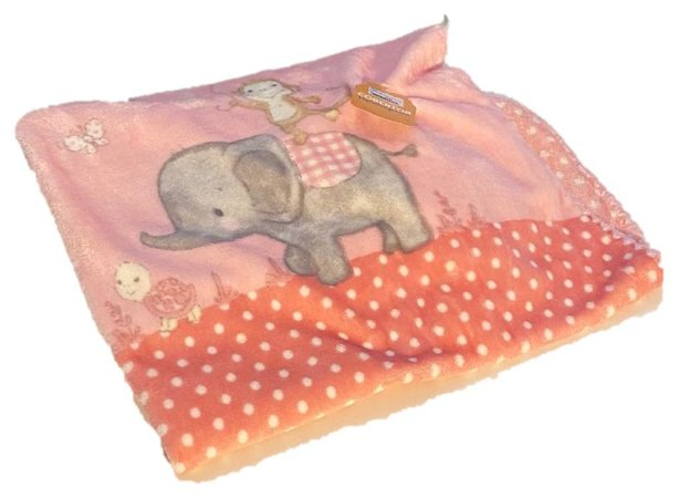 Cobertor Hipoalérgico Le Petit - Zoo Rosa - Colibri