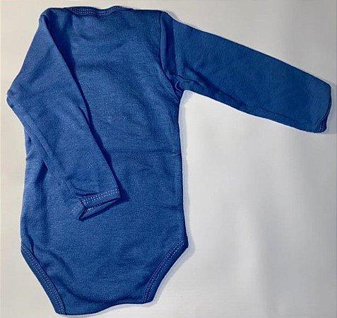 Body Manga Longa - Jeans - Pulla Bulla